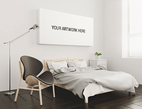 床头无框画样机