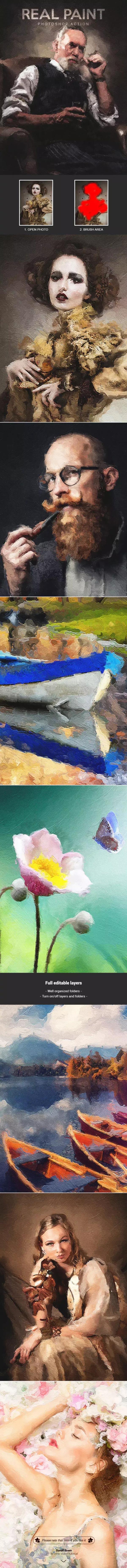 油漆素描风格PS动作