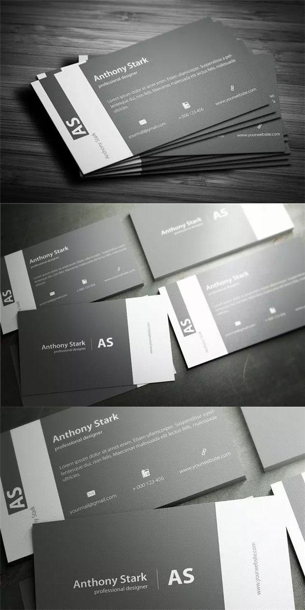 灰色元素企业名片