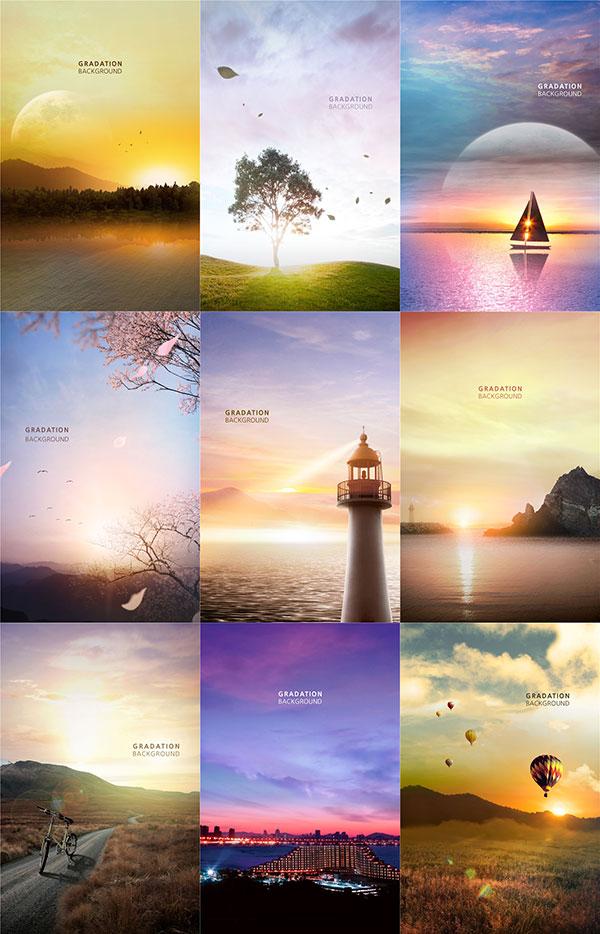 9款唯美风景海报
