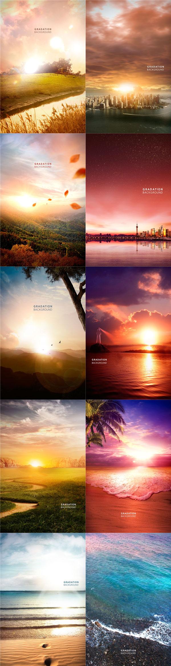 10款唯美风景海报
