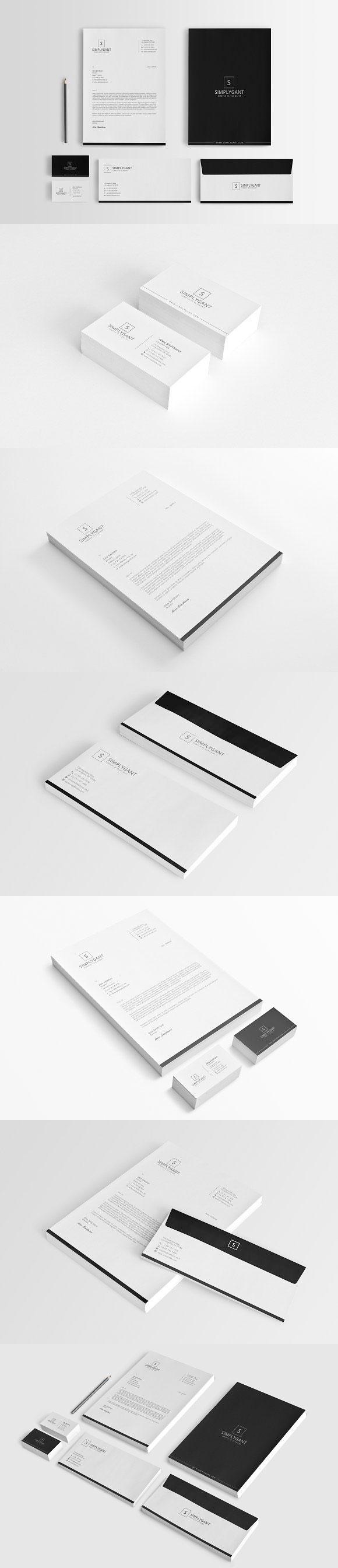 黑白商务VI模板