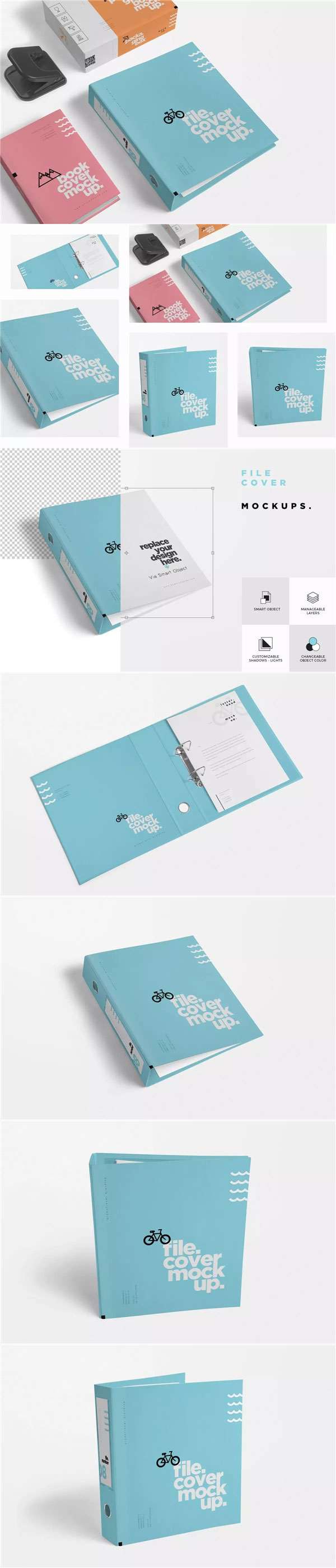 盒子文件夹样机