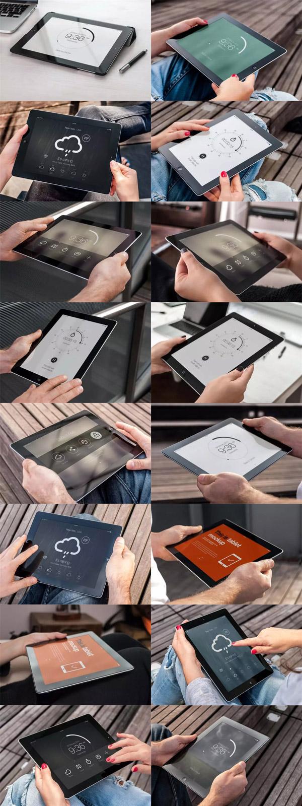 手持iPad场景样机