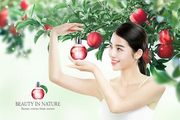美女化妆品广告