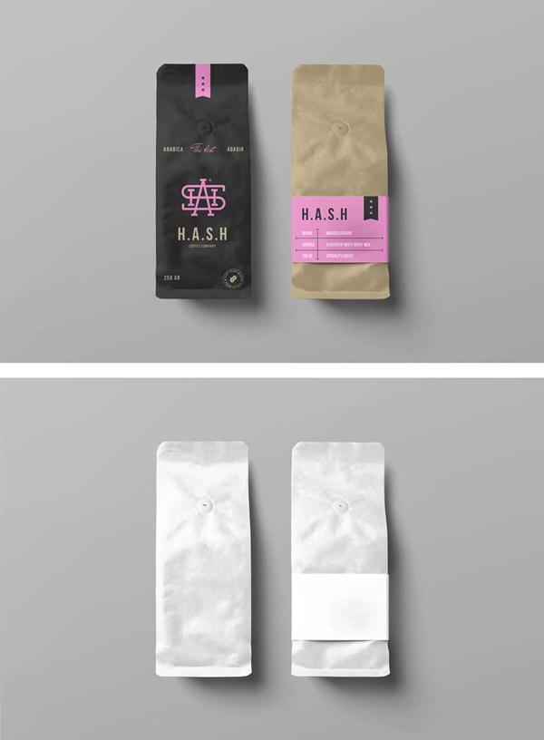 咖啡纸袋子样机