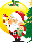 韩国矢量-圣诞老人2