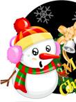 韩国矢量-圣诞雪人