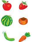 韩国矢量-蔬菜水果