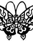 传统窗花剪纸蝴蝶