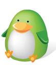 可爱的绿色小鸡