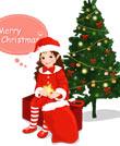 圣诞小女孩