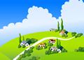 山坡上的村落