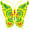 矢量剪纸图案-蝴蝶