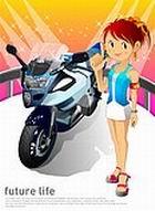 未来生活-车展女孩