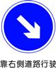 交通指示标志-靠右侧道路行