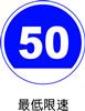 交通指示标志-最低限速