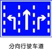 交通指示标志-分向行驶车道