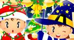 矢量圣诞魔法师