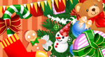 矢量小熊圣诞树