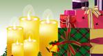 矢量圣诞蜡烛礼物