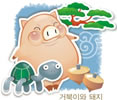 可爱韩国矢量猪_19