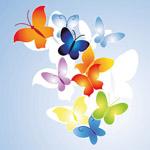 时尚矢量蝴蝶图案
