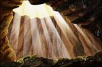 山洞、青蛇、光芒psd分层