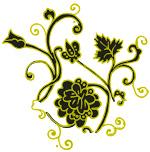 韩国时尚华丽花纹