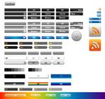 网页设计矢量按钮