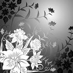 矢量潮流花卉线描