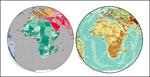 矢量非洲球面地图