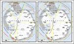 矢量南极洲地图
