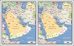 矢量阿拉伯半岛地图