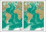 矢量大西洋地图