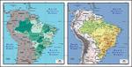 矢量巴西地图
