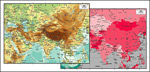 矢量亚洲中心地图