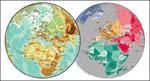 矢量欧洲球面地图