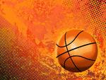 矢量超酷篮球与背景元素