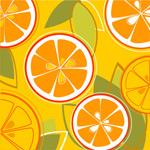 橙子组合矢量背景_7