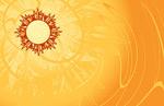 太阳与精美背景矢量素