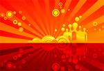 红色主题背景矢量素材