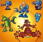 可爱的机器人矢量素材