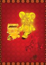 春节素材-金鼠
