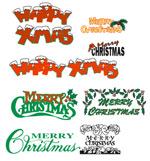 矢量圣诞字体