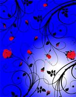 矢量玫瑰花背景