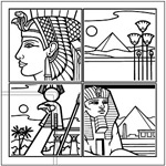矢量埃及线描