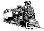 矢量黑白火车头