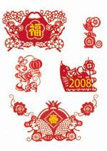 春节矢量-生肖鼠
