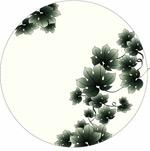 矢量植物水墨绿藤